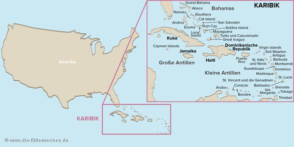 Karte Karibik