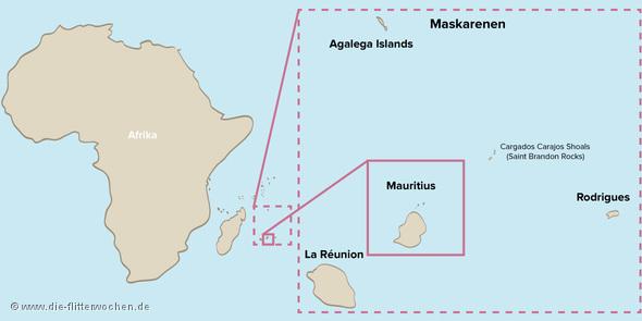 Mauritius Karte