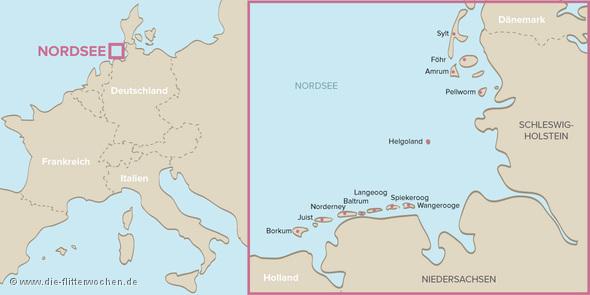 Nordsee Karte