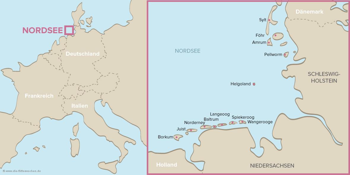 Nordsee Karte Niedersachsen.Flitterwochen An Der Nordsee Hochzeitsreise An Die Nordsee