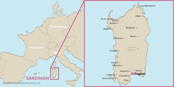 Sardinien Karte