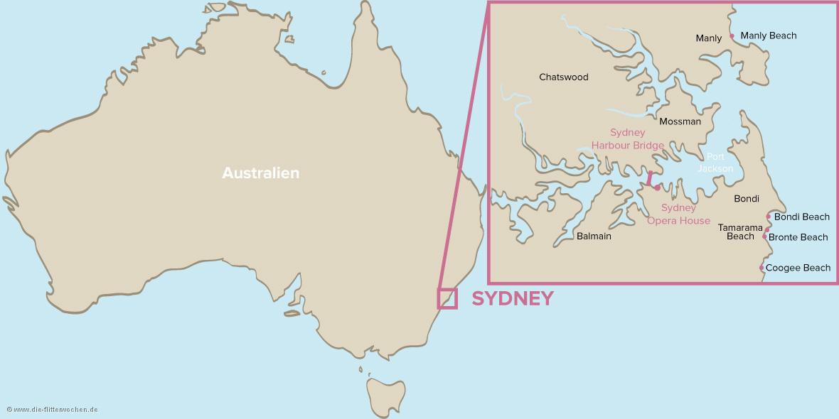 sydney karte Sydney Karte Bilder und Fotos   die flitterwochen.de